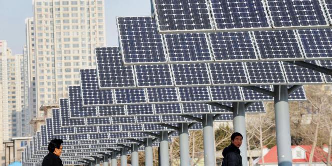 Panneaux solaires à Shenyang, dans le nord-est de la Chine, en2009.