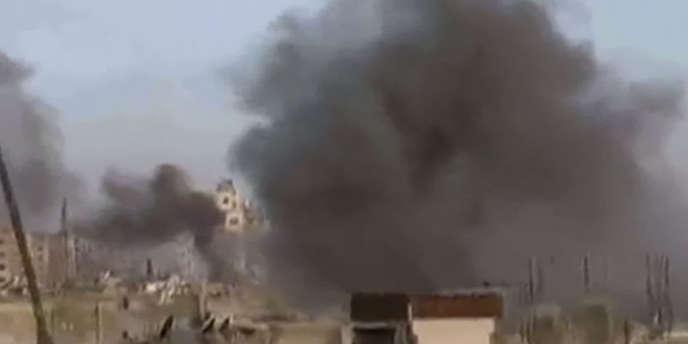 Capture d'écran d'une vidéo montrant les bombardements sur Homs, le 6 février 2012.