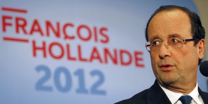 François Hollande, le 6 février 2012 à Dijon.
