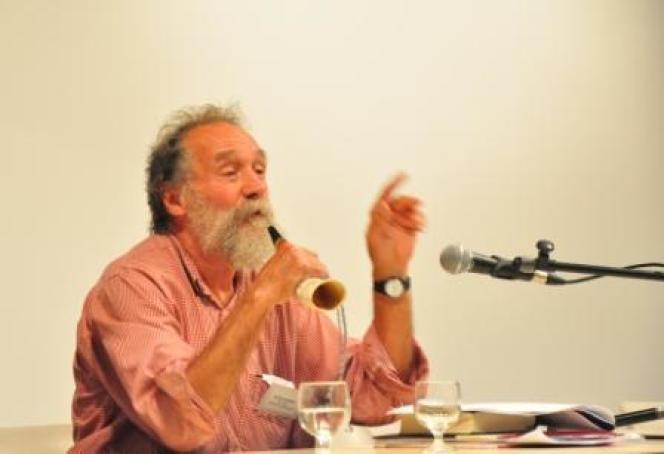 Claude Gaignebet au Festival des Rencontres littéraires d'Aubrac, août 2011