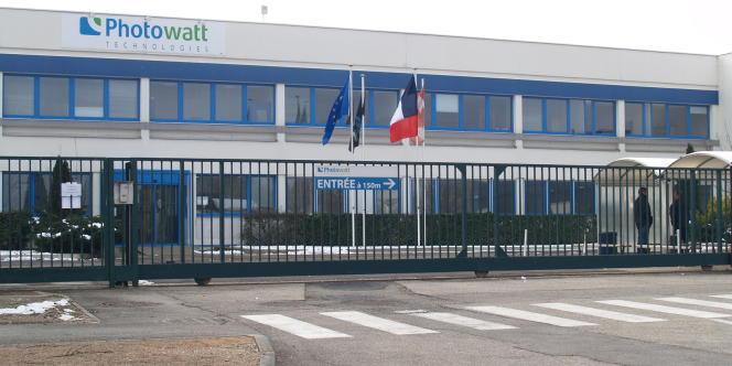 Sur le site de Photowatt, à Champfleury.