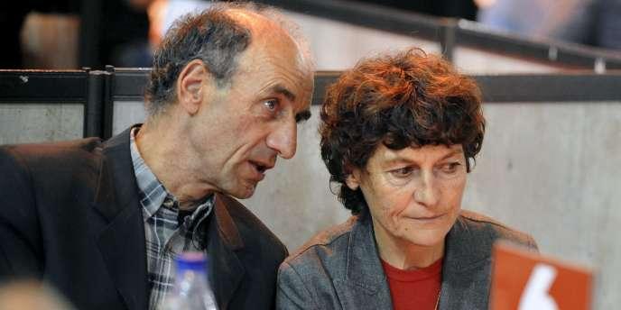 Jeannie Longo et son mari, Patrice Ciprelli le 27 octobre 2011 à Grenoble.