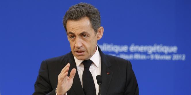 Nicolas Sarkozy, le 9 février à la centrale nucléaire de Fessenheim, dans le Haut-Rhin.