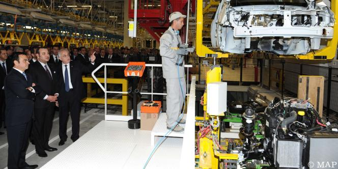 Inauguration de l'usine près de Tanger, le 9 février 2012.