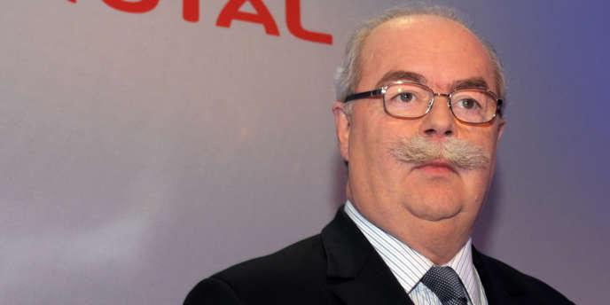 Christophe de Margerie lors de la présentation des résultats annuels du groupe, le 10 février 2012 à Paris.