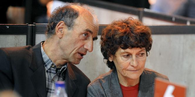 Patrice Ciprelli et Jeannie Longo. Grenoble, le 10 février.