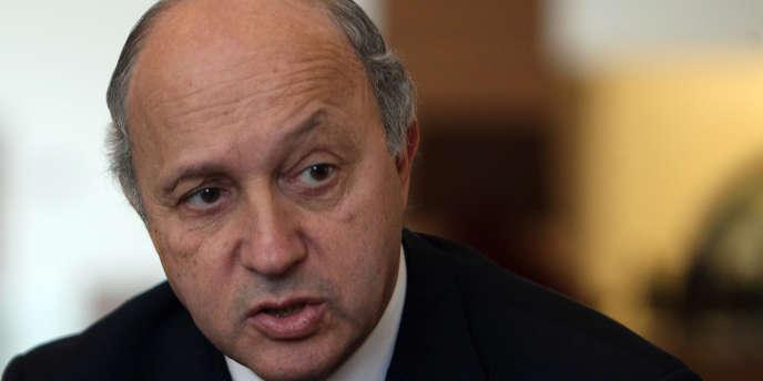 Laurent Fabius, le chef de la diplomatie française, à Ramallah le 2 février 2012.