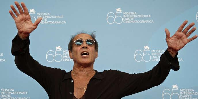 Le chanteur italien Adriano Celentano au Festival du film de Venise en septembre 2008.