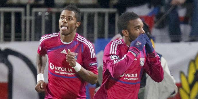 Lacazette avait marqué le seul but du match aller le 14 février à Lyon.