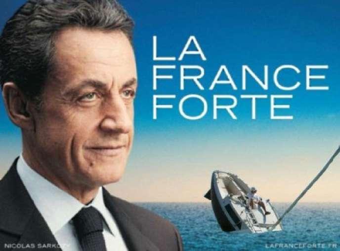 Détournement de l'affiche de Nicolas Sarkozy.