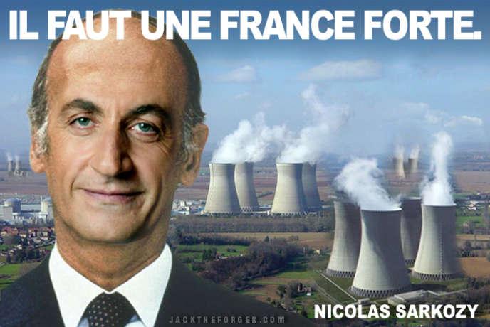 Détournement de l'affiche de campagne de Nicolas Sarkozy par Jacktheforger.com