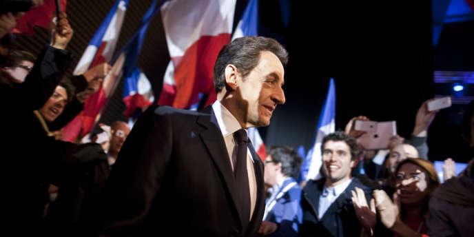 Le président a donné à Annecy, en Haute-Savoie, son premier meeting de campagne jeudi 16 février.