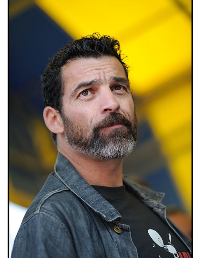 Xavier Mathieu, délégué CGT, ancien ouvrier à l'usine Continental de Claroix (Oise) devenu depuis comédien.
