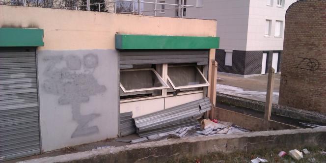 Le bureau des infirmières de la PMI des Tarterêts à Corbeil-Essonnes après les dégradations du 7 février