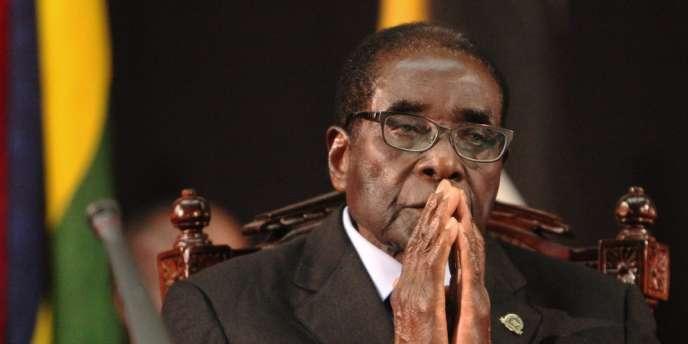 Robert Mugabe, le président du Zimbabwe, en février 2012 à Harare.