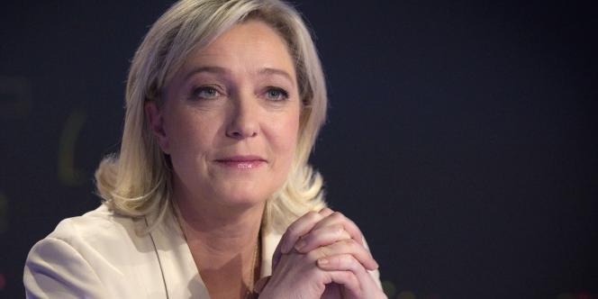 Marine Le Pen au journal de 20 heures de TF1, vendredi 17 février.