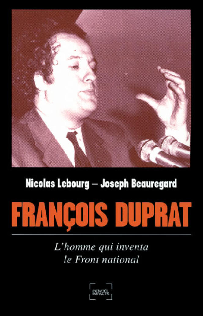 Couverture de l'ouvrage de Nicolas Lebourg et Joseph Beauregard,