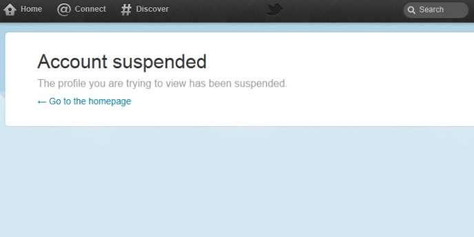 Image de compte Twitter désactivé