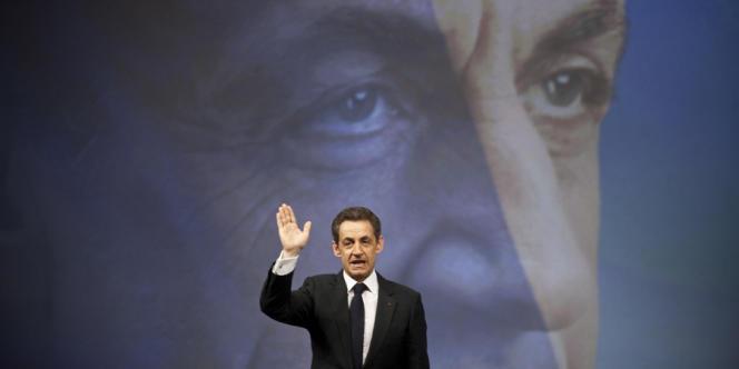 Nicolas Sarkozy au meeting de Marseille, le 19 février 2012.