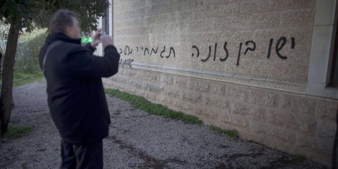 Il s'agit du deuxième acte de vandalisme visant un édifice religieux chrétien dans Jérusalem-Ouest.