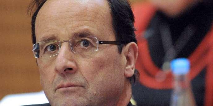 François Hollande à Tulle, le 17 février.