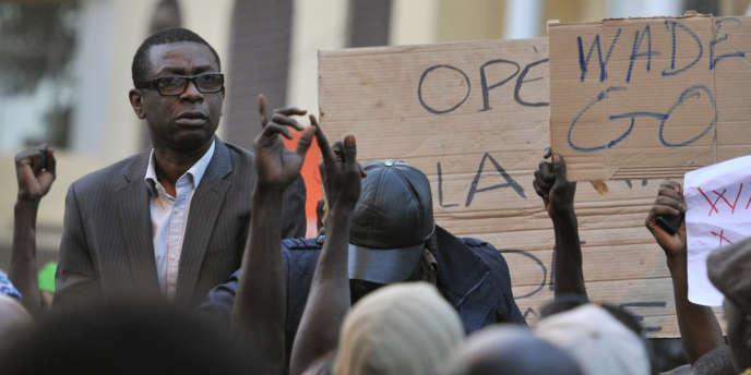 Youssou Ndour, le 21 février 2012, à Dakar.