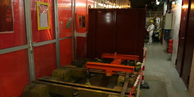 Les déchets du chantier sont entreposés dans des colis envoyés dans différents centres de stockage.