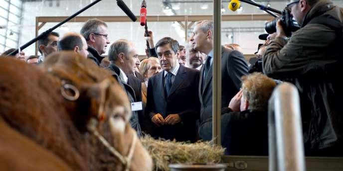François Fillon au salon de l'agriculture, le 27 février, à Paris.
