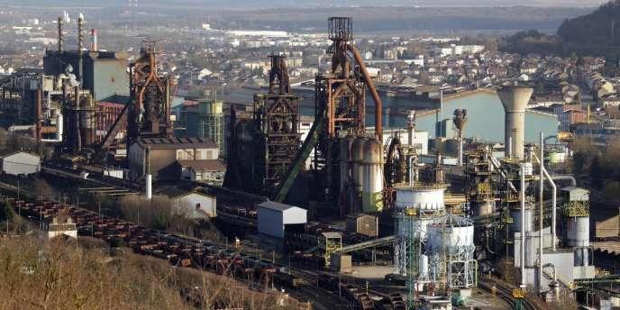 Vue générale du site d'ArcelorMittal à Florange (photo prise le 20 février 2012).