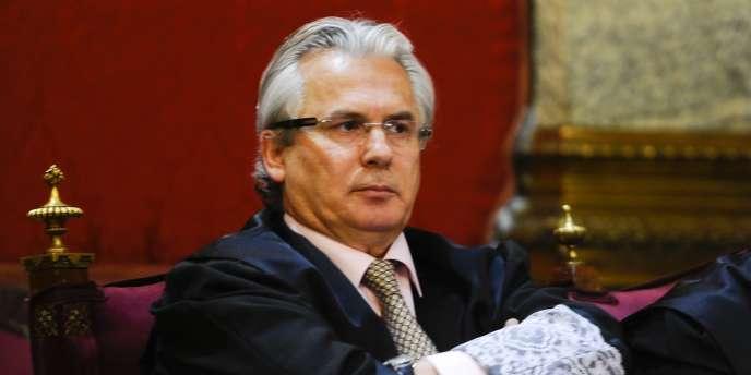 Le juge Baltasar Garzon, le 24 janvier 2012, au Tribunal suprême de Madrid.