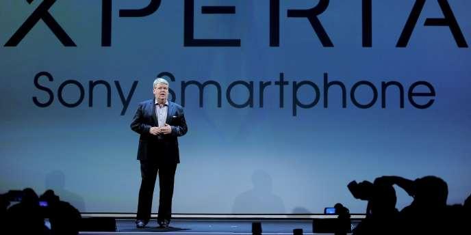 Le président de Sony Mobile Communications, Bert Nordberg, à l'ouverture dimanche du grand rendez-vous mondial des professionnels du mobile à Barcelone, en Espagne.