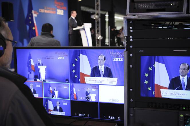 Conférence de presse de François Hollande, à Brest, le 30 janvier