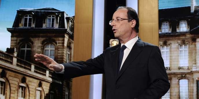 François Hollande sur le plateau de