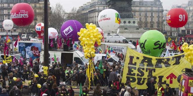 Partie de Bastille, la manifestation contre l'austérité devait se terminer place de la Nation à Paris, mercredi 29 février.