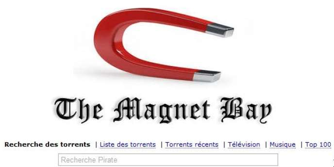 Le logo de The Pirate Bay lors de l'abandon des fichiers .torrent.