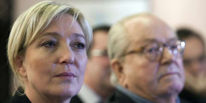 Marine Le Pen et Jean-Marie Le Pen, le 21 février.