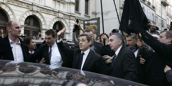 Nicolas Sarkozy à Bayonne, jeudi.