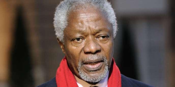 Kofi Annan, à Paris, le 15 février 2011.