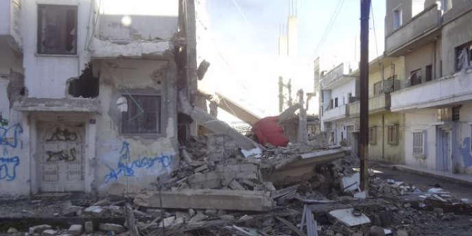 Le quartier de Baba Amro, à Homs, le 23 février