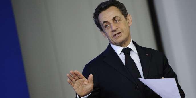 Nicolas Sarkozy, le 1er mars à Bruxelles.