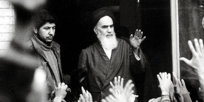 L'ayatollah Khomeyni, à Téhéran, en 1979.