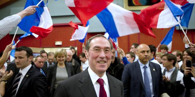Claude Guéant, le 2 mars à Velaine-en-Haye, près de Nancy (Meurthe-et-Moselle).