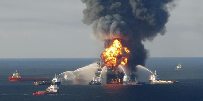 La catastrophe de Deepwater Horizon, en avril 2010 aux Etats-Unis.
