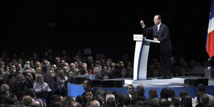 François Hollande en meeting à Dijon, samedi 3 mars.
