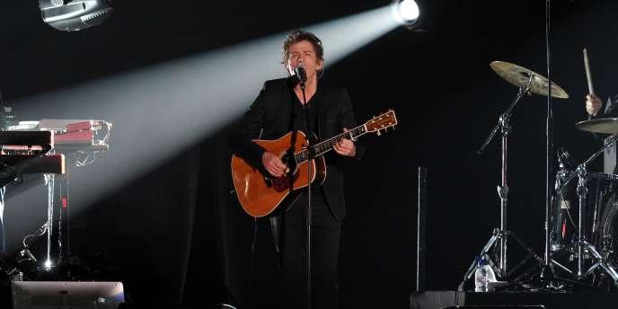Hubert-Félix Thiéfaine, le 3 mars 2012, sur la scène des 27e Victoires de la musique.