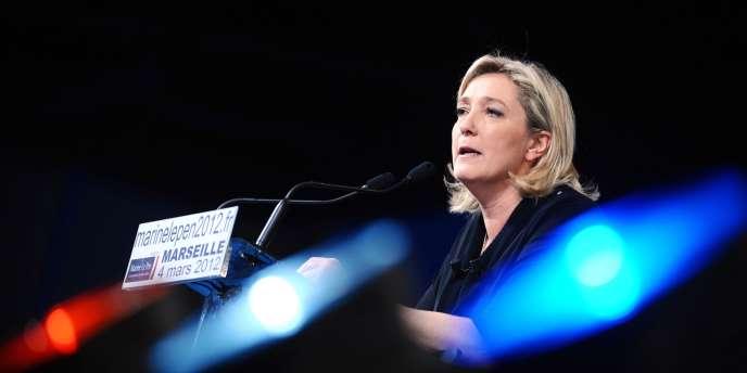 Marine Le Pen, le 4 mars à Marseille.