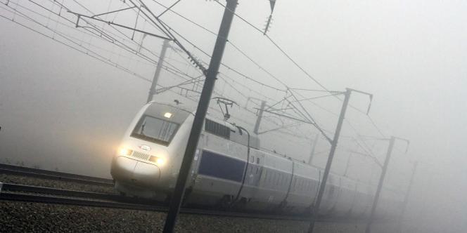 Un TGV de la ligne Paris-Strasbourg, en décembre 2006.