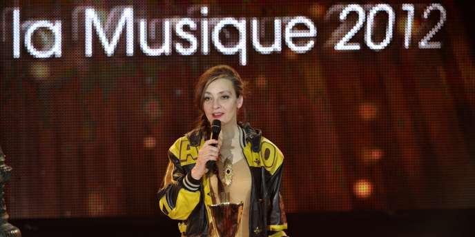 La chanteuse Catherine Ringer lors des 27es Victoires de la musique à Paris, le 3 mars 2012.