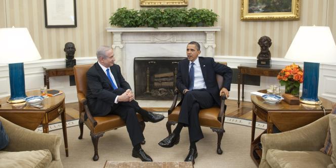 Benyamin Nétanyahou et Barack Obama, lors de leur rencontre dans le Bureau ovale de la Maison Blanche (Washington), le 5 mars.
