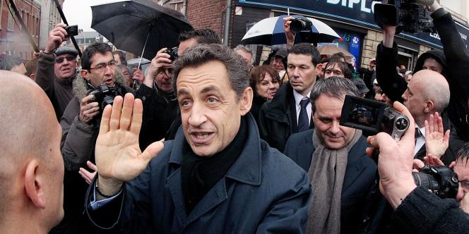 Nicolas Sarkozy à Saint-Quentin, le 5 mars.